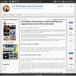 Les hackers d'Anonymous rendent publiques les négociations entre le FN et le Kremlin