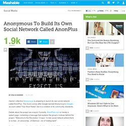 Anonymous To Build Its Own Social Network Called AnonPlus