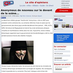 Anonymous de nouveau sur le devant de la scène...
