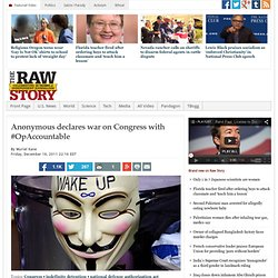 Anonymous declares war on Congress with #OpAccountable