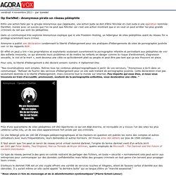 Op DarkNet: Anonymous pirate un réseau pédophile