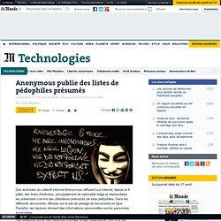 Anonymous publie des listes de pédophiles présumés