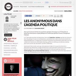 Les Anonymous dans l'agenda politique
