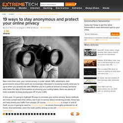 The ultimate guide to staying anonymous and protecting your privacy online - Slideshow