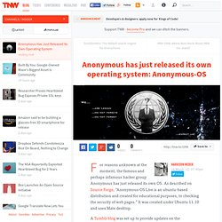 Anonymous Has Just Released Its Own Operating System