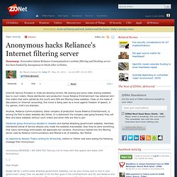 Anonymous hacks Reliance's Internet filtering server