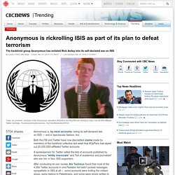 Anonymous is rickrolling ISIS as part of its plan to defeat terrorism - Trending
