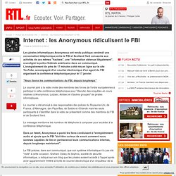 Internet : les Anonymous ridiculisent le FBI