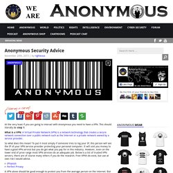 Anonymous Security Advice AnonHQ