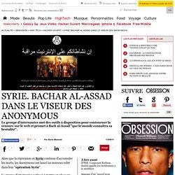 SYRIE. Bachar al-Assad dans le viseur des Anonymous - Hacker ouvert - Le Nouvel Observateur