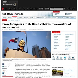 From Anonymous to shuttered websites, the evolution of online protest - Canada