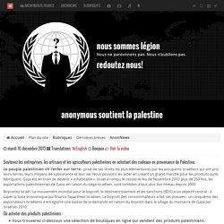 Anonymous soutient la Palestine (sites pr acheter produits palestiniens)