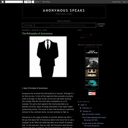 The Philosophy of Anonymous