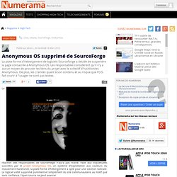 Anonymous OS supprimé de SourceForge