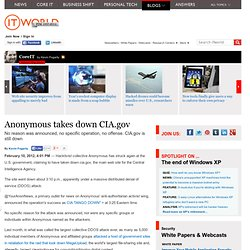 Anonymous takes down CIA.gov