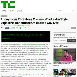 Anonymous Threatens Massive WikiLeaks-Style Exposure, Announced On Hacked Gov Site