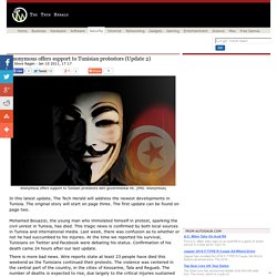 Anonymous offers support to Tunisian protestors (Update 2)