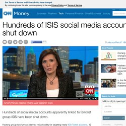 Anonymous: We've taken down 800 ISIS Twitter accounts - Feb. 10, 2015