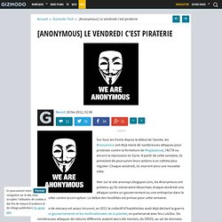 [Anonymous] Le vendredi c'est piraterie