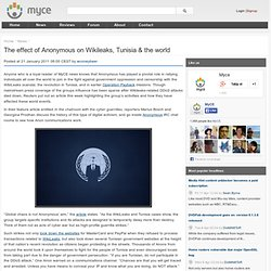 The effect of Anonymous on Wikileaks, Tunisia & the world