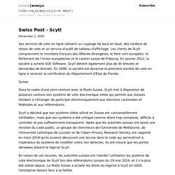 Swiss Post - Scytl