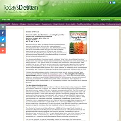 Anorexia and the Gut Microbiome - Today's Dietitian Magazine
