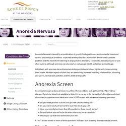 Anorexia Nervosa Treatment Center