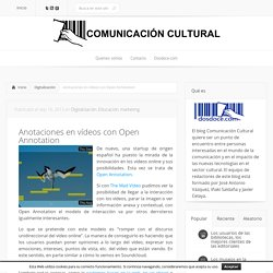 Anotaciones en vídeos con Open Annotation