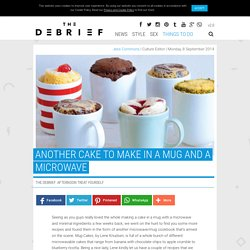 Another Cake To Make In A Mug And A Microwave