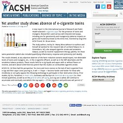 Yet another study shows absence of e-cigarette toxins - American Council on Science and Health (ACSH)