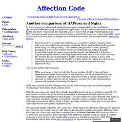 Another comparison of HAProxy and Nginx « Affection Code