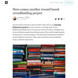Here comes another reward based crowdfunding project