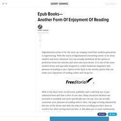 EpubBooks—AnotherFormOfEnjoymentOfReading