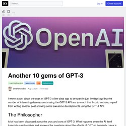 Deep Learning Trends: top 20 best uses of GPT-3 by OpenAI