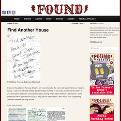 FOUND Magazine | Goodbye