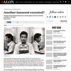 Another innocent executed?