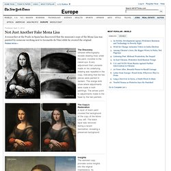 Not Just Another Fake Mona Lisa - Interactive Feature