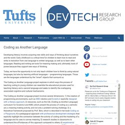Coding as Another Language – DevTech Research Group