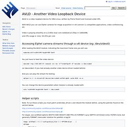 AVLD - Another Video Loopback Device - ElphelWiki