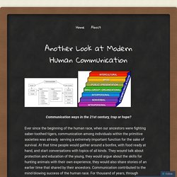 Another Look at Modern Human Communication