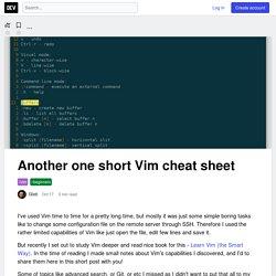 Another one short Vim cheat sheet - DEV