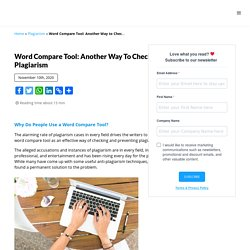 Another Word Compare Tool to Check for Plagiarism