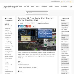 Another 38 Free Audio Unit Plugins Worth Checking Out - Logic Pro Expert