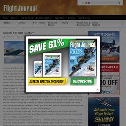 Another FW 190A is reborn - Flight Journal