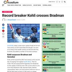 Virat Kohli breaks another Test records and surpassed Don Bradman