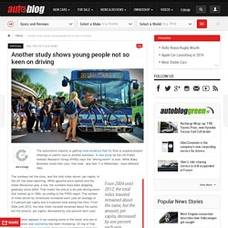 Another study shows young people not so keen on driving