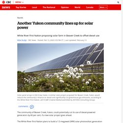 Another Yukon community lines up for solar power