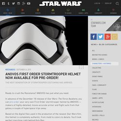 ANOVOS First Order Stormtrooper Helmet Now Available for Pre-Order!
