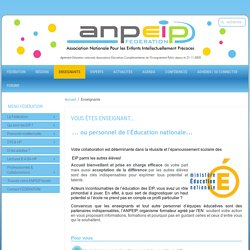 ANPEIP - Éducation nationale