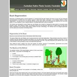 ANPSA Plant Guide: Environmental Weeds in Australia